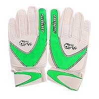 P Prettyia 運動手袋 フットボール 耐久性 手指保護 ゴールキーパー専用 品質保証 全3色 - 緑