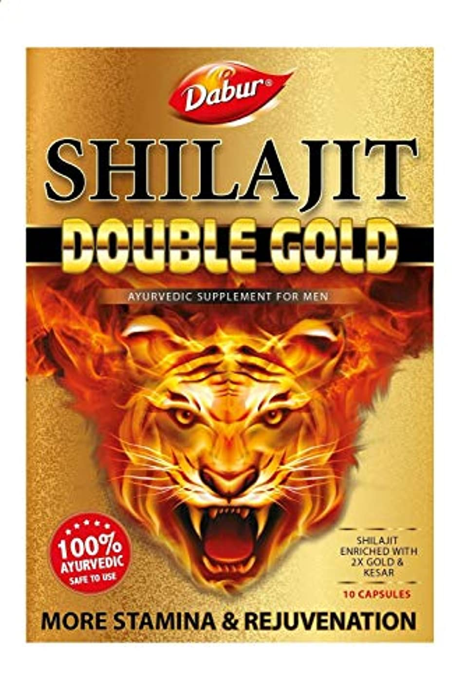 市長同情多様性DABUR Shilajit Double Gold 20 Capsules for Stamina and Rejuvenation