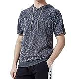 [Make 2 Be] メンズ 半袖 プルオーバー パーカー ビックサイズ スポーツ カジュアル 通気性 抜群 Tシャツ MF92