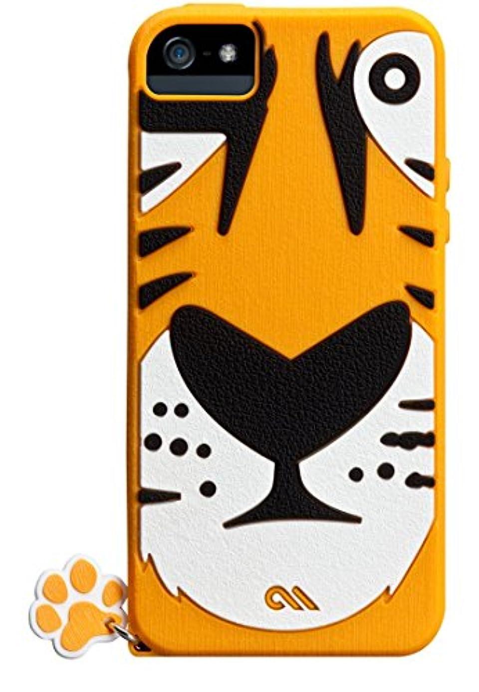 名義でアラビア語不良品Case-Mate 日本正規品 iPhoneSE / 5s / 5 CREATURES: Tigris Case, Yellow クリーチャーズ: チグリス シリコン ケース, イエロー CM022553