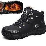 [MUMEOMU] ハイキングシューズ メンズ 防滑 防水 耐磨耗 通気 トレッキングシューズ 大きいサイズ ハイカット 裏起毛 スノーブーツ 登山靴 ブラック 26cm