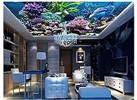 MzNmフォト壁紙3d壁画天井ファンタジーCoral Underwater world天井背景壁リビングルームホーム装飾 Gsavba -51214