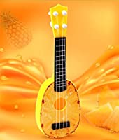 Izumin ウクレレ 果物式ウクレレ 子供にやさしい入門セット決定版 楽器 オリジナル チューナー (イエロー)