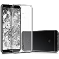 kwmobile Huawei Enjoy 7S / P Smart 用 ケース - スマホカバー - 携帯 保護ケース 透明