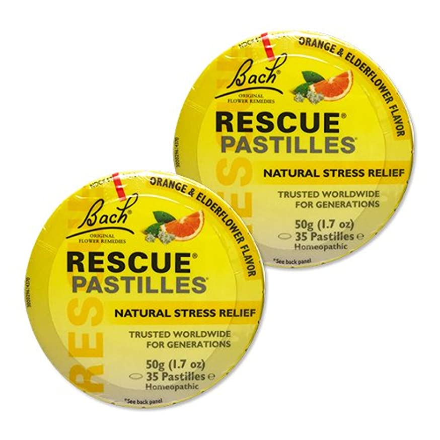 プロフェッショナル注目すべき誰【2個セット】 [海外直送品]バッチフラワー レスキューレメディー パステル(オレンジ) Rescue Pastilles: For Occasional...