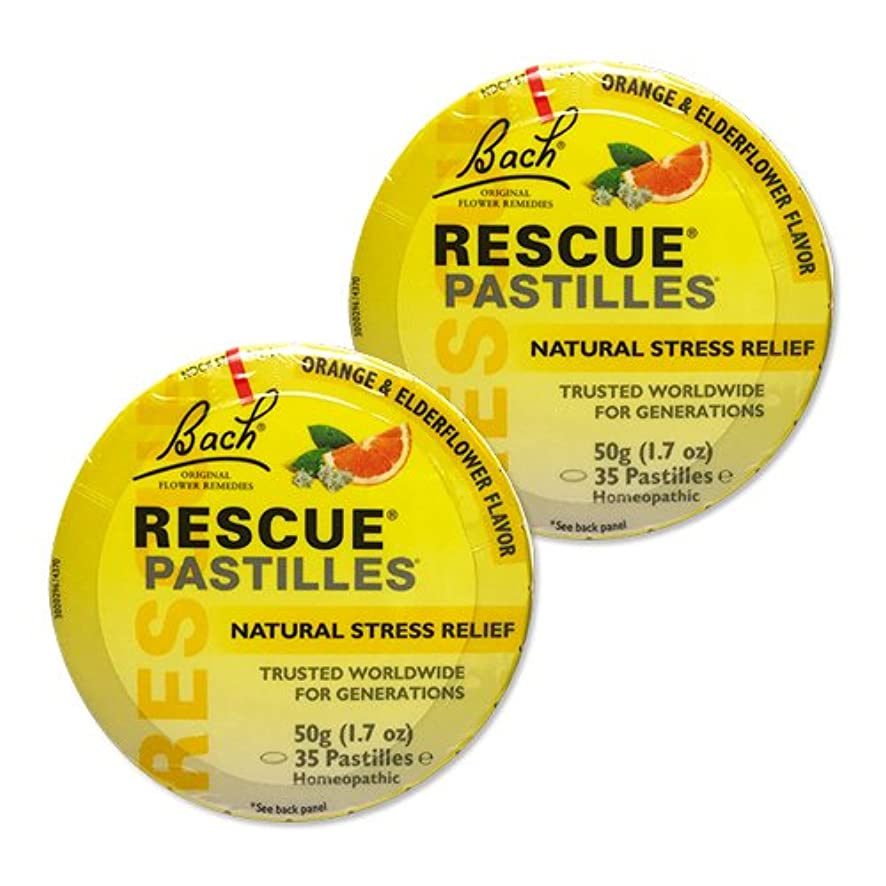 ライド上向きにおい【2個セット】 [海外直送品]バッチフラワー レスキューレメディー パステル(オレンジ) Rescue Pastilles: For Occasional...