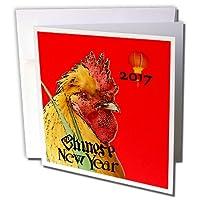 フローレンChinese New Year Designs–イメージの2017Chinese New Year With Large Rooster and Lantern–グリーティングカード Set of 12 Greeting Cards
