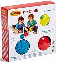 Edushape Fun Z Balls 3 Piece 【You&Me】 [並行輸入品]