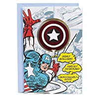 Hallmark Captain America Birthday Card for Kids (Captain America Shield) [並行輸入品]