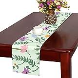 LKCDNG テーブルランナー 木の葉 とんぼ クロス 食卓カバー 麻綿製 欧米 おしゃれ 16 Inch X 72 Inch (40cm X 182cm) キッチン ダイニング ホーム デコレーション モダン リビング 洗える