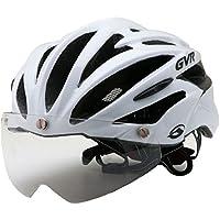 GVR G-307V サイクルヘルメット JCF公認 54-60cm クリアシールド付 G-307V