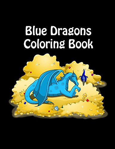 Blue Dragons Coloring Book