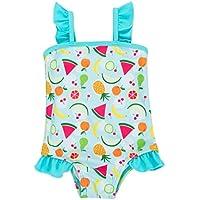 ATTRACO Baby Girls One Piece Skirt Swimsuit Toddler Swimwear Polka Dot Ruffle