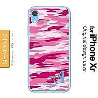 iPhone XR(アイフォーン XR) スマホケース カバー ソフトケース 迷彩B ピンクD イニシャル対応 M nk-ipxr-tp1165ini-m