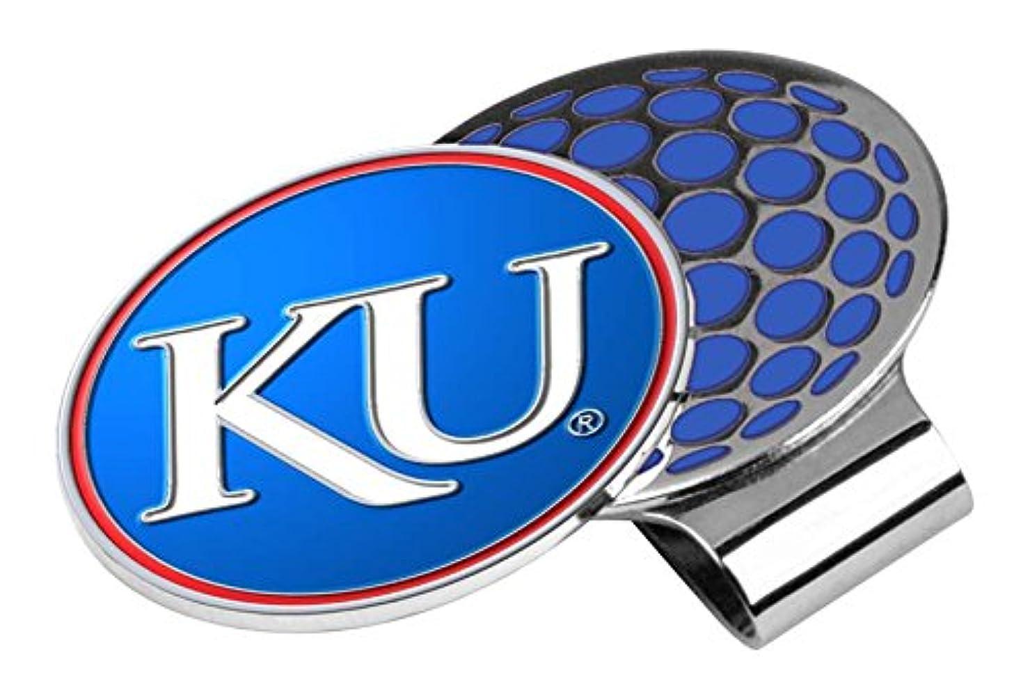 ご近所ビタミン外部NCAA Kansas Jayhawksゴルフ帽子クリップとボールマーカー、1サイズ