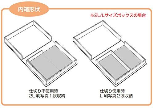 アルバム イージーボックス 2L / Lサイズ ストライプ RBX-202-1