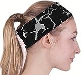 (クールオーエムジー)COOLOMG ヘッドバンド 汗止め 前髪固定 表裏両用 ブラックのシマウマ紋パタン 男女兼用 一枚入り