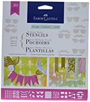 Faber-Castell Design Memory Craft Stencils, Textured and Mixed Media, 201 Collection - Set Of 10 by Design Memory Craft