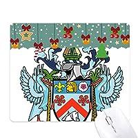セントクリストファー・ネイビスの国章 ゲーム用スライドゴムのマウスパッドクリスマス