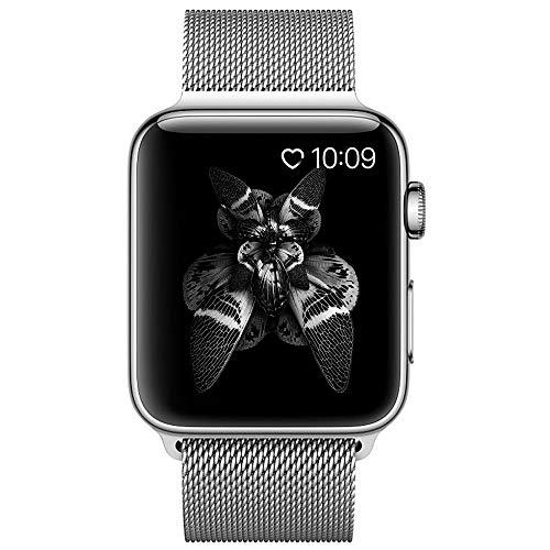 COVERY for apple watch バンド,ミラネーゼループ アップルウォッチバンド アップルウォッチ3 ステンレス留め金 apple watch series 3/2/1に対応 (42mm,シルバー)