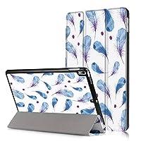 iPad 9.7 2017ケースiPad 9.7 2018[DUSS]薄型 軽量 カラーパターン 高級PUレザーソフト スマートカバー 三つ折り スタンド スマートキーボード対応 キズ防止 指紋防止自動スリープ/ウェイクアップ機能付き ipad 9.7専用対応 -青い羽
