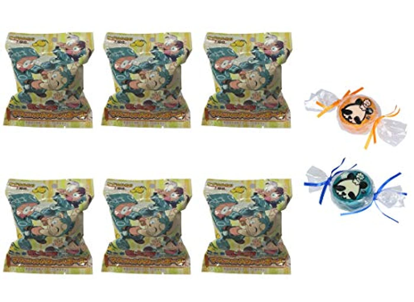 ホイスト雪の時系列【6個セット+ミニ石けん付】サンタン 忍たま乱太郎 マスコット入り バスボール ゆずの香り 80g【パンダ石けん2個付】