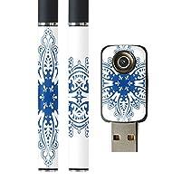 スマコレ プルームテック ploom tech バッテリー スティック 専用スキンシール USB充電器 カバー ケース 保護 フィルム タバコ フラワー 雪 冬 マーク 001541