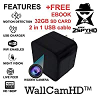 ZspyHD WallCamHD Hidden Nanny Camera Night Vision WiFi IP cam [並行輸入品]