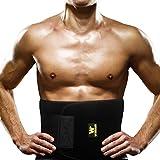 WINDAUD 高品質 腰 サポーター ウエスト 発汗 腹筋 ベルト - 男女兼用 腰 固定 トレーニング用 & 減量用 & ダイエット用 & 運動用 サポーター