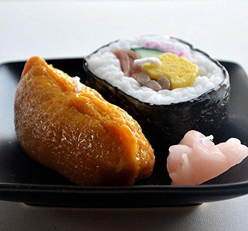 好物ローソク「助六寿司キャンドル」いなり寿司と太巻き寿司のセット ガリ付き 御供 カメヤマキャンドル