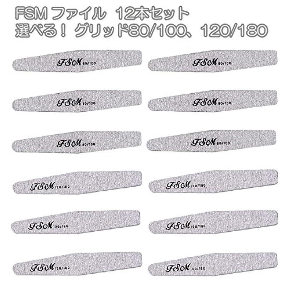 小道具不振脆いFSM ネイルファイル/バッファー12本セット(選べる!グリッド80/100、120/180) (G120/180の12本)