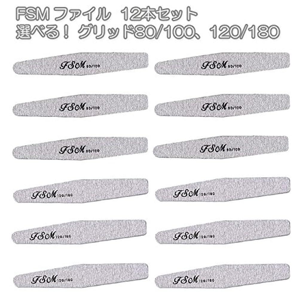 代わりにを立てると王位FSM ネイルファイル/バッファー12本セット(選べる!グリッド80/100、120/180) (G120/180の12本)
