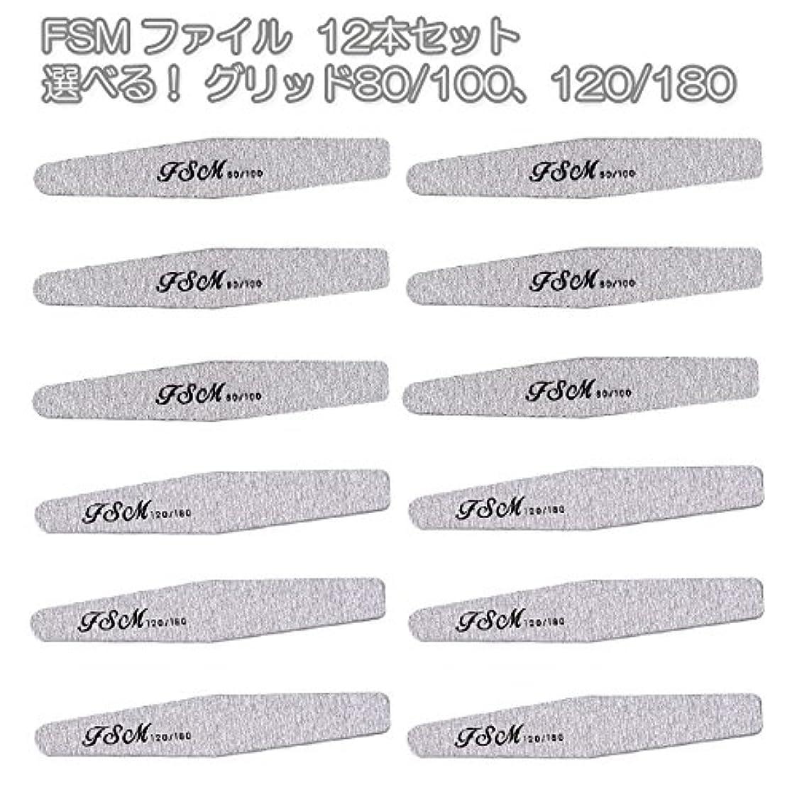 通行人ピンクゴシップFSM ネイルファイル/バッファー12本セット(選べる!グリッド80/100、120/180) (G120/180の12本)