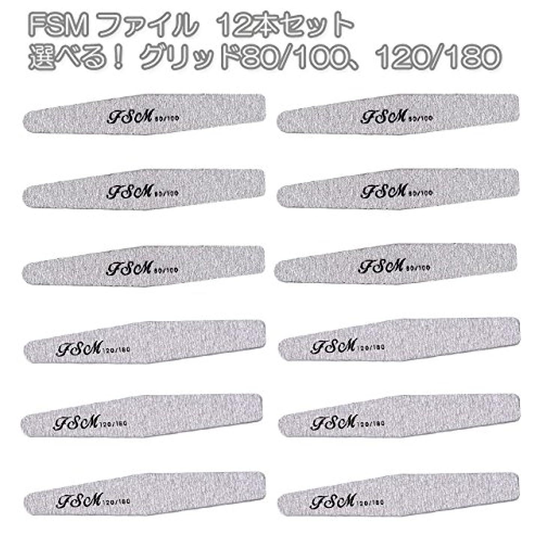 それるプロテスタント草FSM ネイルファイル/バッファー12本セット(選べる!グリッド80/100、120/180) (G120/180の12本)