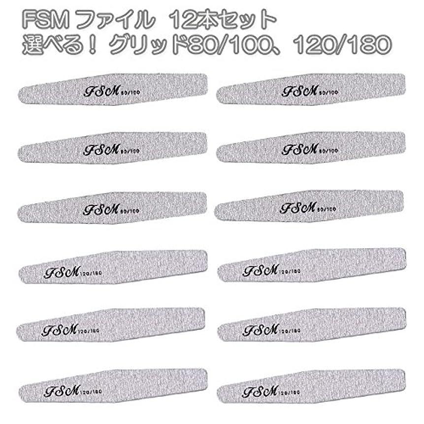 値するお風呂を持っている画面FSM ネイルファイル/バッファー12本セット(選べる!グリッド80/100、120/180) (G80/100の12本)