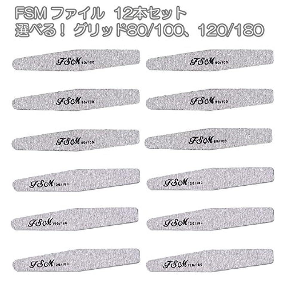 細断推進翻訳するFSM ネイルファイル/バッファー12本セット(選べる!グリッド80/100、120/180) (G80/100の12本)