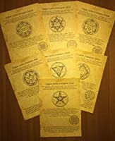Set of Ancient Scrolls 7 Archangels - Helping the Celestial Powers 古代のスクロールのセット7大天使 - 天体の力を助ける