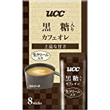 UCC 黒糖入りカフェオレ 8P 96g×4個