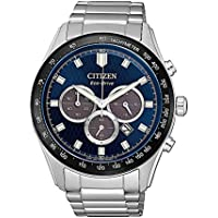 Citizen Men's Solar Powered Wrist Watch chronograph Display and Stainless Steel Strap, CA4454-89L