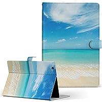 MediaPad T2 10.0 Pro Huawei ファーウェイ SIM MediaPad メディアパッド タブレット 手帳型 タブレットケース タブレットカバー カバー レザー ケース 手帳タイプ フリップ ダイアリー 二つ折り 写真・風景 海 空 写真 t210sim-002856-tb