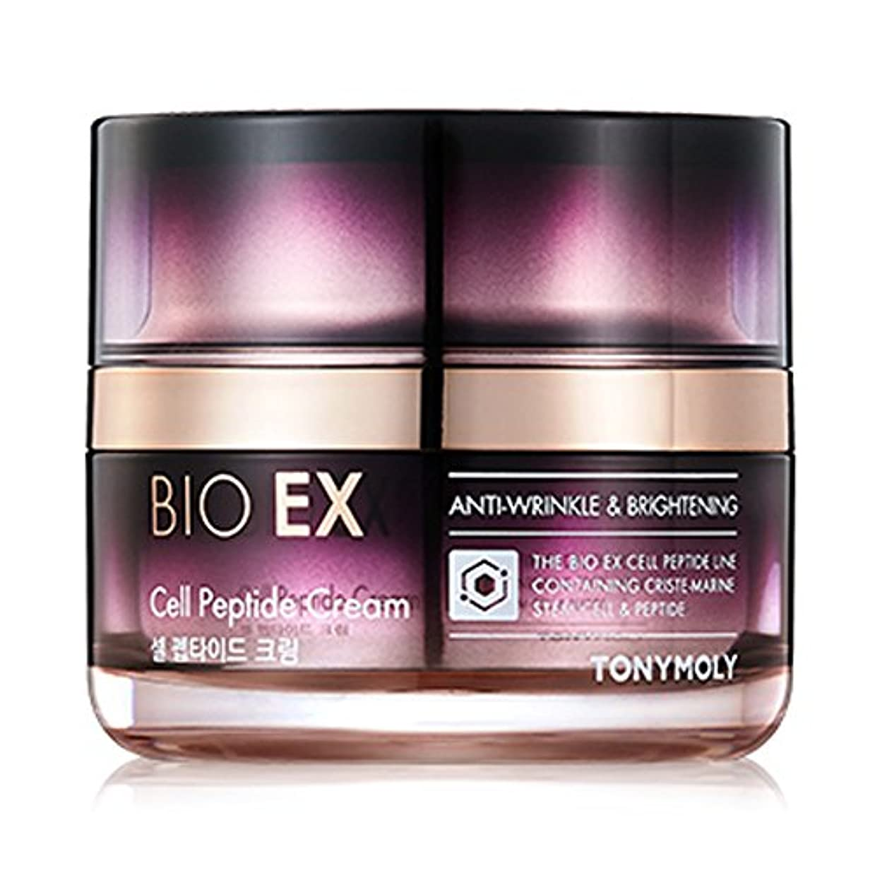 上流のサリー敵対的TONYMOLY BIO EX Cell Peptide Cream 60 ml