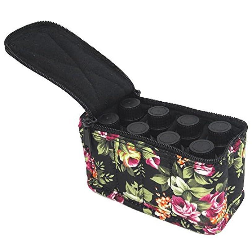 Pursue エッセンシャルオイル収納ケース アロマオイル収納ボックス アロマポーチ収納ケース 耐震 携帯便利 香水収納ポーチ 化粧ポーチ 8本用