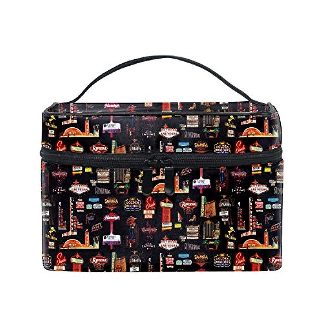 ママオーケストラ読み書きのできない便携式ラスベガス メイクボックス 收納抜群 大容量 可愛い 化粧バッグ 旅行