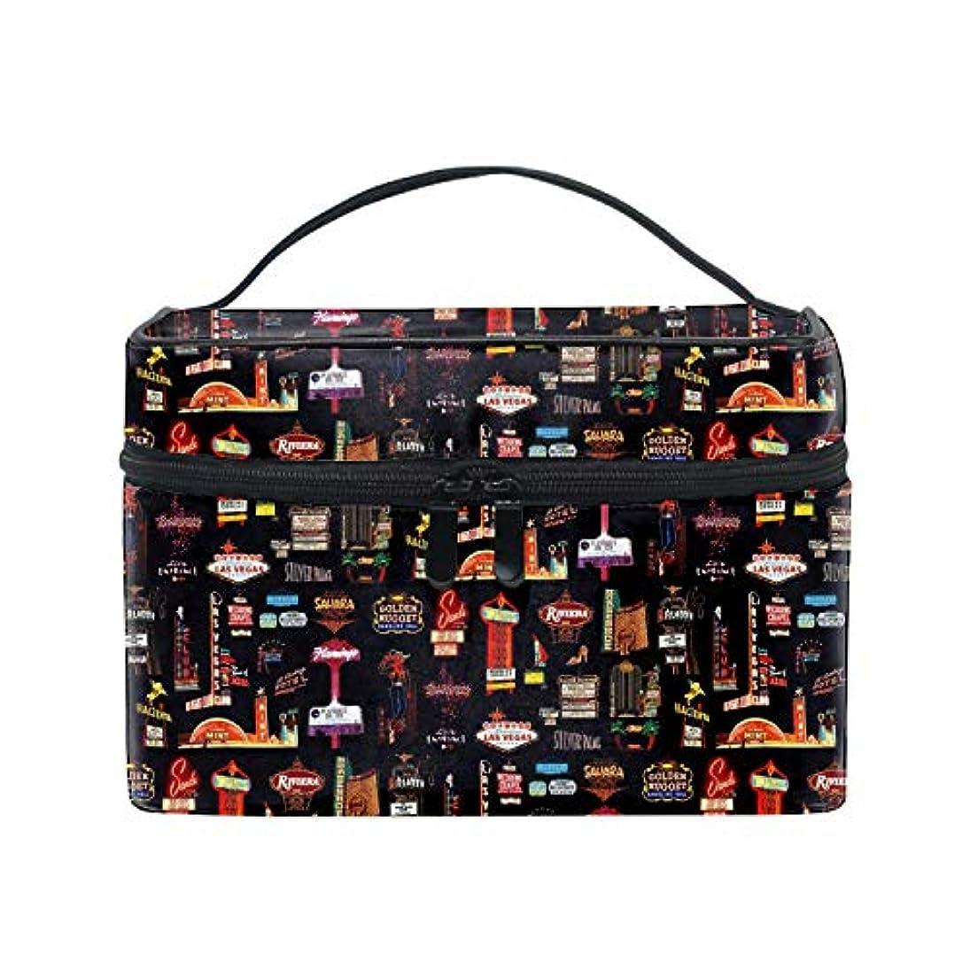 うがいリビジョン九時四十五分便携式ラスベガス メイクボックス 收納抜群 大容量 可愛い 化粧バッグ 旅行