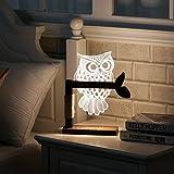 SEDETER 3Dフクロウの形の夜の光 寝室 夜間照明 常夜灯LEDデスクテーブルライトランプ ベッドサイドランプ
