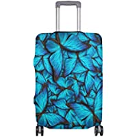 Mydaily Blue Butterfly Luggage Cover Fits 18-32 Inch Suitcase Spandex Travel Protector