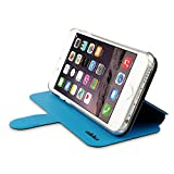 ahha 日本正規品 iPhone6 Plus 5.5 inch Dual Face Flip Case SYKES BASIC, Space Grey/Ocean Blue リバーシブル 右開き/左開き 両対応 スタンド機能 つき 手帳型 ブックタイプ デュアル フェイス フリップ ケース A-FPIH655-DSG3