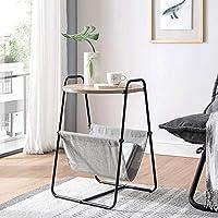 レトロな小さなコーヒーテーブルシンプルな2層ラウンドテーブルリビングルームダイニングテーブルラウンドソファダイニングテーブル現代産業木製ダイニングテーブルベッドサイドテーブル寝室 (Color : ブラック)