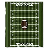 KXMDXA Custom American Football Field Pitch Shower Curtain Waterproof Polyester Bathroom 60 x 72 inch [並行輸入品]