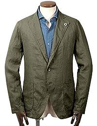 ラルディーニ LARDINI / 【国内正規品】 18SS!製品洗いリネンポプリン3Bシャツジャケット『AMA』 (オリーブ) メンズ